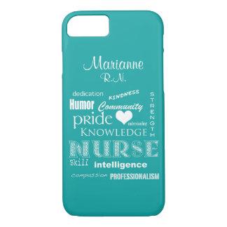 Capa iPhone 8/ 7 Orgulho-Atributos da enfermeira+/Aqua conhecido
