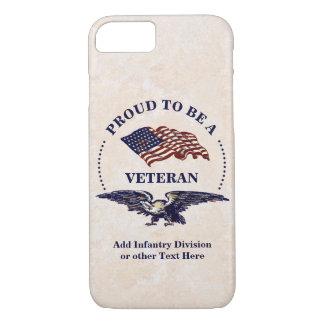 Capa iPhone 8/ 7 Orgulhoso ser um veterano