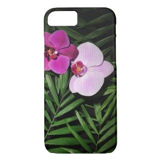 Capa iPhone 8/ 7 Orquídeas com folhas de palmeira