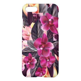 Capa iPhone 8/7 Orquídeas. Design tropical com flores bonitas