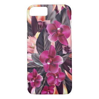 Capa iPhone 8/ 7 Orquídeas. Design tropical com flores bonitas