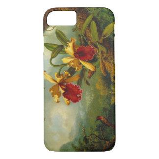 Capa iPhone 8/ 7 Orquídeas e colibri 1875