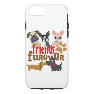 Capa iPhone 8/ 7 Os amigos Furever perseguem filhotes de cachorro