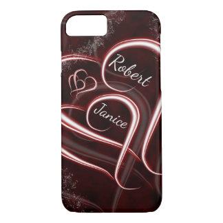 Capa iPhone 8/ 7 Os corações dos amantes para sempre entrelaçados