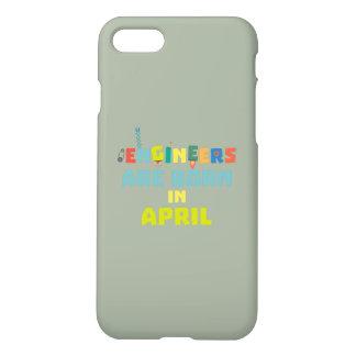 Capa iPhone 8/7 Os engenheiros são em abril Z5h58 nascidos