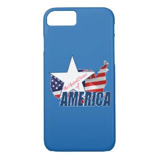 Capa iPhone 8/ 7 Os Estados Unidos da América 4o julho