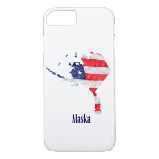 Capa iPhone 8/ 7 Os Estados Unidos de Alaska da bandeira americana