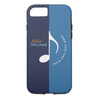 Capa iPhone 8/ 7 os tons do ~ dois da nota da música do azul