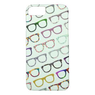 Capa iPhone 8/ 7 Os vidros retros do hipster do geek modelam o caso
