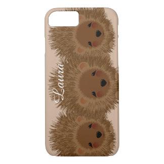 Capa iPhone 8/ 7 Ouriços pequenos bonitos da floresta