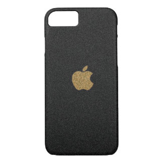 Capa iPhone 8/ 7 Ouro e brilho Apple™ do preto