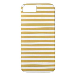 Capa iPhone 8/ 7 ouro e listras brancas