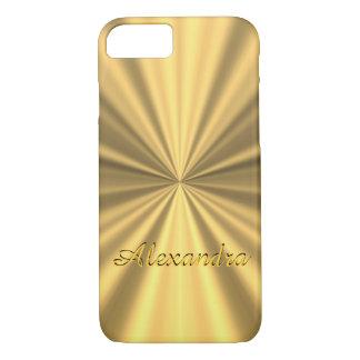 Capa iPhone 8/ 7 Ouro elegante chique personalizado