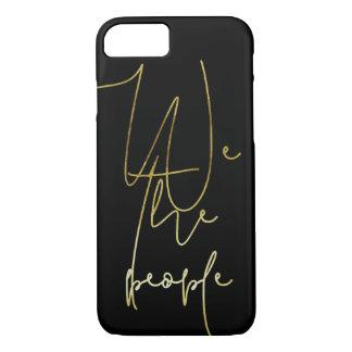 Capa iPhone 8/ 7 Ouro nós as pessoas
