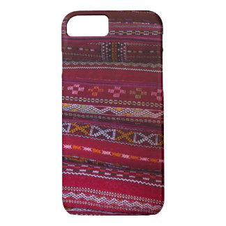 Capa iPhone 8/ 7 Padrões do travesseiro de matéria têxtil