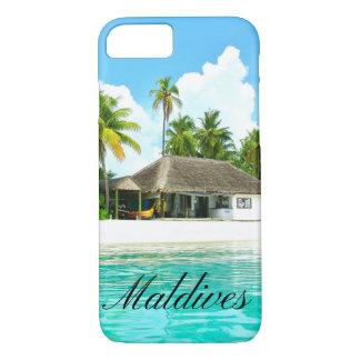 Capa iPhone 8/ 7 Paisagem bonita de Maldives