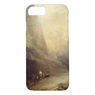 Capa iPhone 8/ 7 Paisagem da montanha com Banditti, c.1780 (óleo em