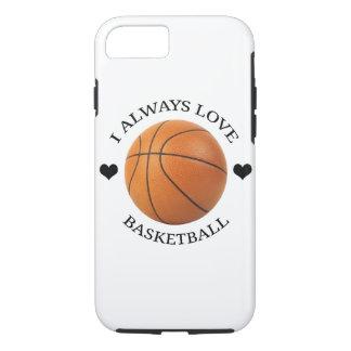 Capa iPhone 8/ 7 paixão do esporte do amor do basquetebol