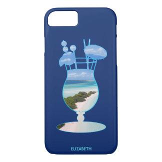 Capa iPhone 8/ 7 Palmas legal e areia da praia do oceano das ilhas