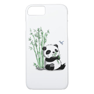 Capa iPhone 8/ 7 Panda que come o bambu