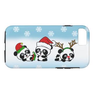 Capa iPhone 8/ 7 Pandas do Natal