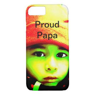 Capa iPhone 8/ 7 Papá orgulhosa com foto da criança