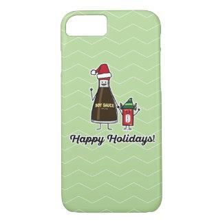 Capa iPhone 8/ 7 Papai noel do Natal da criança do miúdo do pacote