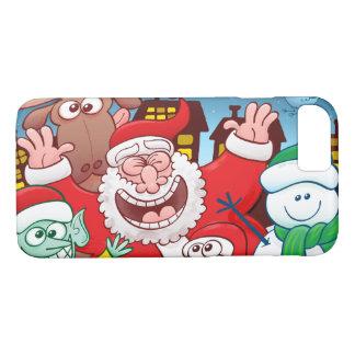Capa iPhone 8/ 7 Papai Noel e sua equipe estão prontos para o Natal