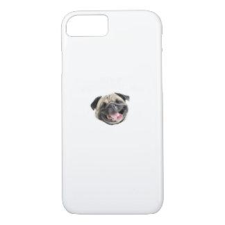 Capa iPhone 8/ 7 Pare Pugging mim presentes engraçados do cão do