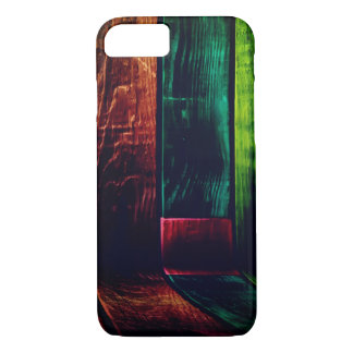 Capa iPhone 8/ 7 Parede de madeira colorida da grão