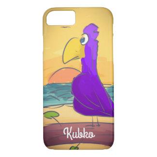 Capa iPhone 8/ 7 Pássaro na praia