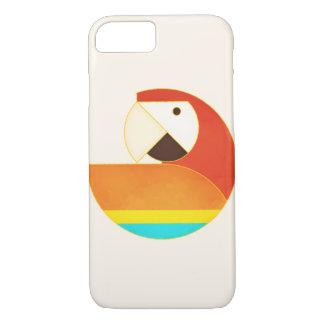 Capa iPhone 8/ 7 Pássaro redondo - Macaw