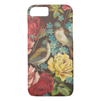 Capa iPhone 8/ 7 Pássaros e flores do vintage
