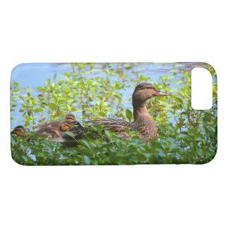 Capa iPhone 8/ 7 Pato selvagem e Patinho-Natação por Shirley Taylor