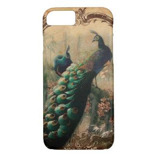 Capa iPhone 8/ 7 pavão moderno do vintage do país francês floral