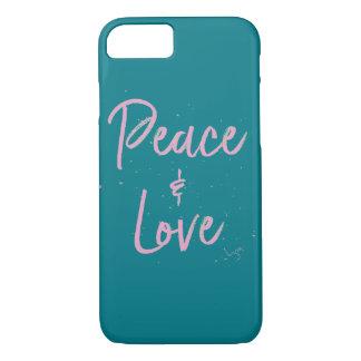 Capa iPhone 8/ 7 Paz-e-Amor-Cor-de-rosa