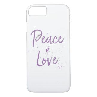 Capa iPhone 8/ 7 Paz-e-Amor-Roxo