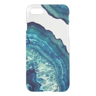 Capa iPhone 8/7 Pedra bonito de Geode da ágata do azul e da