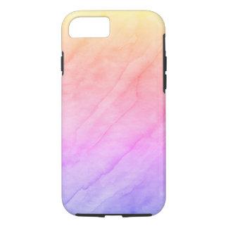 Capa iPhone 8/ 7 Pedra da aguarela de Shell da madrepérola