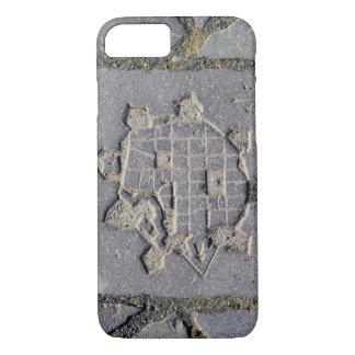 Capa iPhone 8/ 7 Pedra de pavimentação do mapa da citadela de