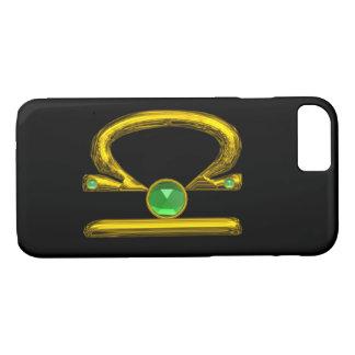 Capa iPhone 8/ 7 Pedra preciosa da esmeralda do verde do LIBRA do