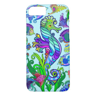Capa iPhone 8/ 7 Peixes exóticos & cavalos marinhos da vida marinha