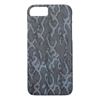 Capa iPhone 8/ 7 Pele de cobra das cinzas azuis