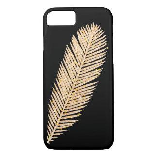 Capa iPhone 8/ 7 Pena do brilho do falso do ouro