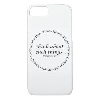 Capa iPhone 8/ 7 Pense sobre tais coisas… 4:8 dos Philippians