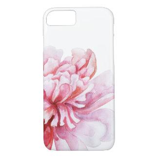 Capa iPhone 8/ 7 Peônia cor-de-rosa