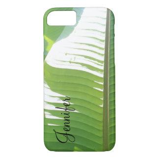 Capa iPhone 8/ 7 Personalizado com a foto das folhas & da luz solar