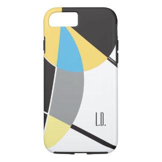 Capa iPhone 8/ 7 Personalizado com iniciais, abstrato, amarelo,