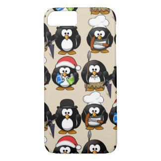 Capa iPhone 8/ 7 Personalize o exemplo bonito dos pinguins para