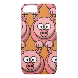 Capa iPhone 8/ 7 Personalize o porco bonito para miúdos